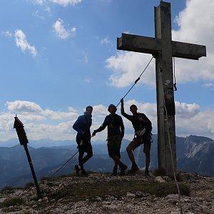 Martin Konvičný na vrcholu Pfaffenstein Westgipfel (5.9.2019 12:27)