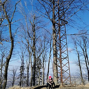 Michelle Sýkorová na vrcholu Kabátice (27.2.2021 18:46)