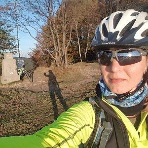 Marcela Kubíčková na vrcholu Soláň (16.10.2021 17:15)