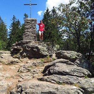 Iveta Válová na vrcholu Großer Falkenstein (9.8.2020 11:54)