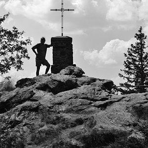 Jarda Vála na vrcholu Großer Falkenstein (9.8.2020 14:13)