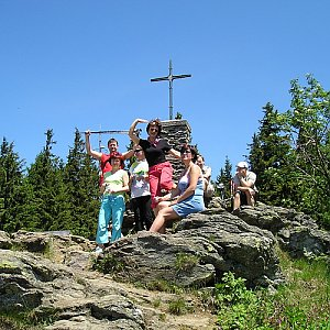 Vladimír Grančay na vrcholu Großer Falkenstein (18.6.2006 12:32)