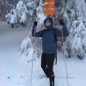 Paťule3 na vrcholu Nad Planou Dolinou (11.1.2019 15:15)
