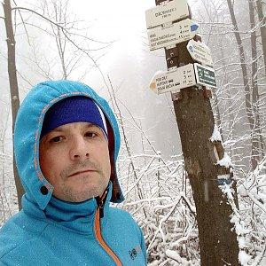 Vítězslav Vrána na vrcholu Díly (19.1.2020 11:42)