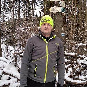 Vítězslav Vrána na vrcholu Díly (26.1.2020 17:30)