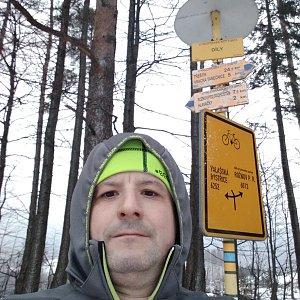 Vítězslav Vrána na vrcholu Díly (28.1.2020 15:54)