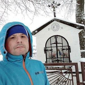 Vítězslav Vrána na vrcholu Hážovické Díly (19.1.2020 12:09)