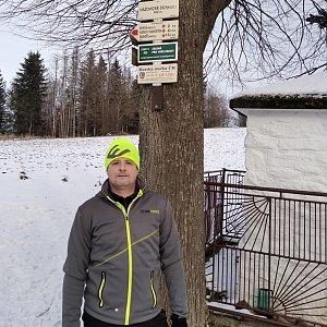 Vítězslav Vrána na vrcholu Hážovické Díly (26.1.2020 14:22)