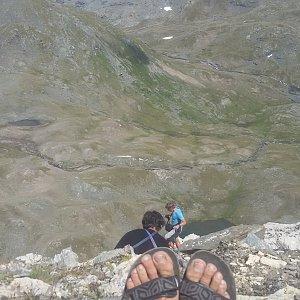 Jan Šafařík na vrcholu Bec Carre (2.8.2017 14:00)