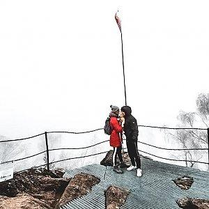 Jolana Moravcová na vrcholu Bradlo (1.1.2021 12:01)