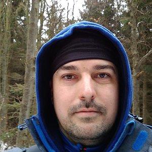 Petr Kowolowski na vrcholu Nořičí hora (28.1.2018 12:50)