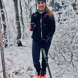 Monča Čaganová na vrcholu Nořičí hora (13.1.2018 12:00)