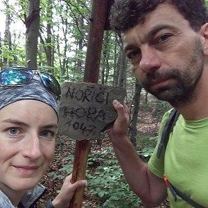 Babunka159 na vrcholu Nořičí hora (18.6.2018 14:50)