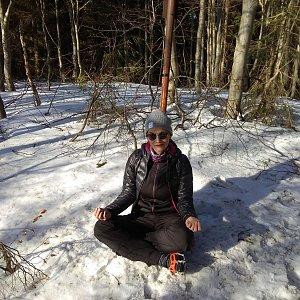 Pavlína Sýkorová na vrcholu Nořičí hora (17.2.2019 13:59)
