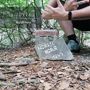 Jan Zamarski na vrcholu Nořičí hora (11.7.2021 10:27)