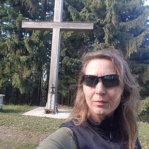 Marcela Kubíčková na vrcholu Kohútka (16.10.2021 14:40)