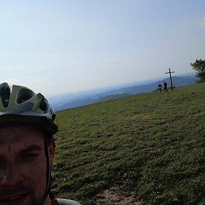 Jan Zamarski na vrcholu Loučka (9.6.2021 18:16)