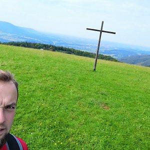 Jan Zamarski na vrcholu Loučka (7.9.2021 12:53)