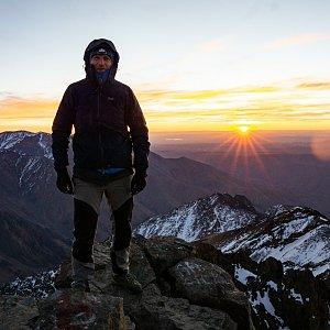 David Klvana na vrcholu Jebel Toubkal (15.1.2019 8:21)