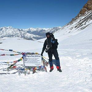 KaMo na vrcholu Thorung La pass (21.3.2015 10:39)