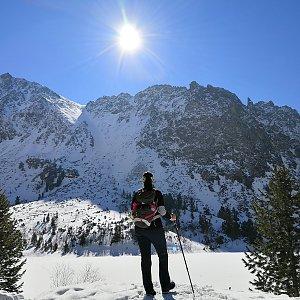 Radka Nezvalová na vrcholu Popradske Pleso (7.4.2019 10:03)