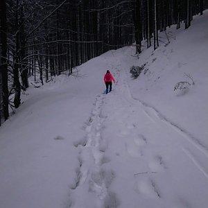 BarůůŠ Heczková na vrcholu Kalužný (4.2.2019 20:00)