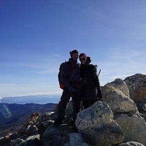 Michaela Hilscherová na vrcholu Pico de Teide (22.11.2019 9:30)
