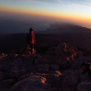 Iveta Válová na vrcholu Pico de Teide (10.3.2020 7:30)