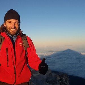 Jan Šafařík na vrcholu Pico de Teide (20.1.2019 8:00)