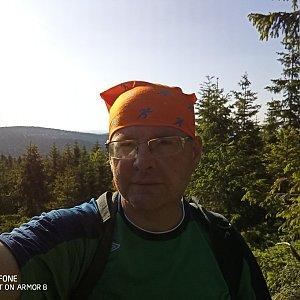 Milan Meravy na vrcholu Černé kameny (17.6.2021 8:15)