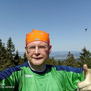Milan Meravy na vrcholu Kamenný vrch (17.6.2021 10:50)