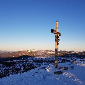 Marek Feest na vrcholu Lusen (17.2.2019 7:36)