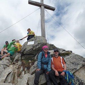 Vladimír Kučera na vrcholu Predné Solisko (31.7.2020 13:01)
