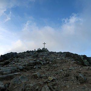 Šárka na vrcholu Predné Solisko (28.8.2020 17:57)
