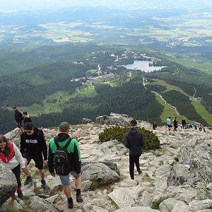 Jiřina na vrcholu Predné Solisko (14.7.2020 12:51)