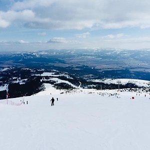 Martina Šinclová na vrcholu Predné Solisko (24.3.2018 11:50)