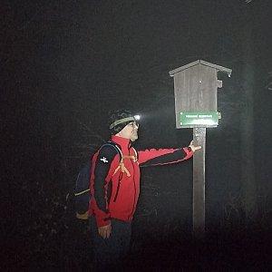 Miroslav Příhonský na vrcholu Huštýn (5.2.2021 19:01)