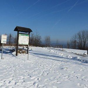 Iva Purmenská na vrcholu Kubánkov (8.2.2020 12:50)