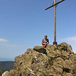 Jarda Vála na vrcholu Kleiner Osser (11.8.2020 12:55)