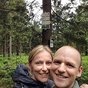 Michaela Karásková na vrcholu Smrk (26.6.2020 15:00)