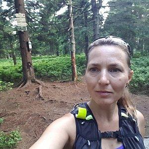 Marcela Kubíčková na vrcholu Smrk (4.7.2021 19:31)