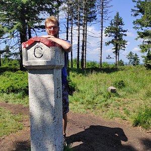 Jiří Hudec na vrcholu Smrk (24.7.2021 11:13)