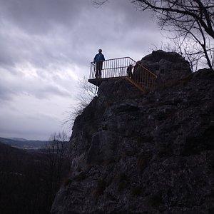 Joch a Dingo na vrcholu Raškova vyhlídka (9.3.2019 17:25)