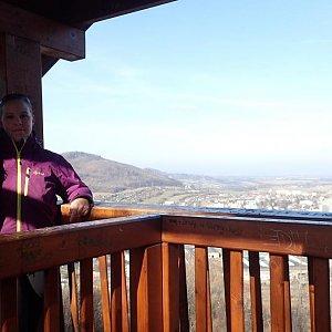 Jiřík na vrcholu Bezručová vyhlídka nad Kopřivnici (6.3.2019 9:35)