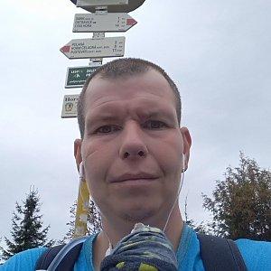 Michal Krčmář na vrcholu Smrk (28.9.2019 13:51)
