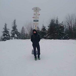 Vendula Valigurová na vrcholu Smrk (1.1.2020 10:30)