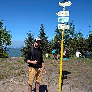 Jack Skurello na vrcholu Smrk (6.5.2018 12:16)
