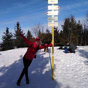 Michelle Sýkorová na vrcholu Smrk (26.1.2020 11:41)
