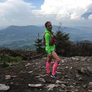 Barbora Dreslerová na vrcholu Smrk (12.5.2018 15:15)