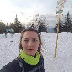 Marcela Kubíčková na vrcholu Smrk (31.1.2020 15:58)